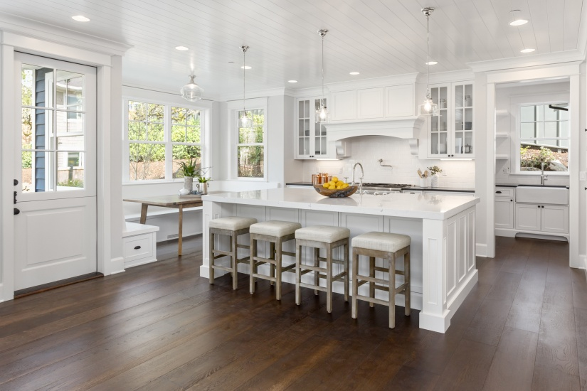 White and Open Kitchen with Natural Light…YesPlease!